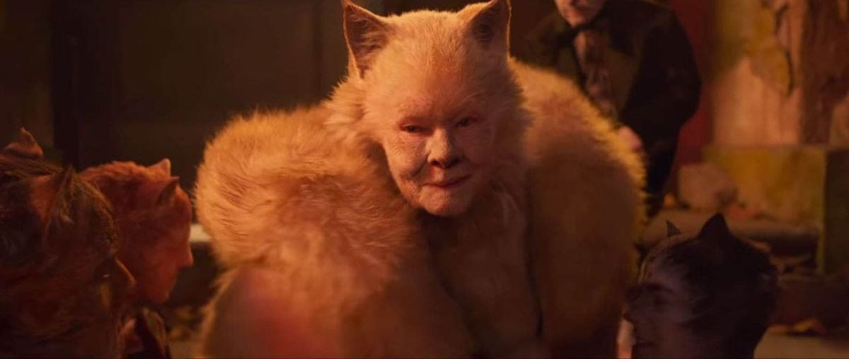 Dame Judy Dench is dressed as a cat