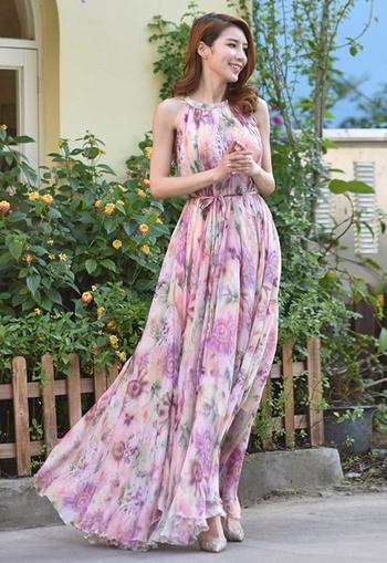 model wearing pink version