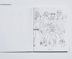 Spice Girls coloring page