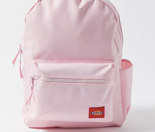 a light pink dickies back pack