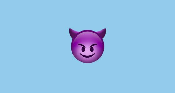 Smiling devil emoji