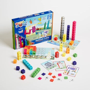 Numberblocks activity set and packaging