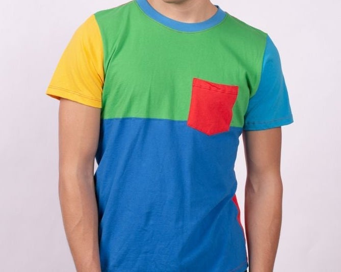 A colorblock t-shirt