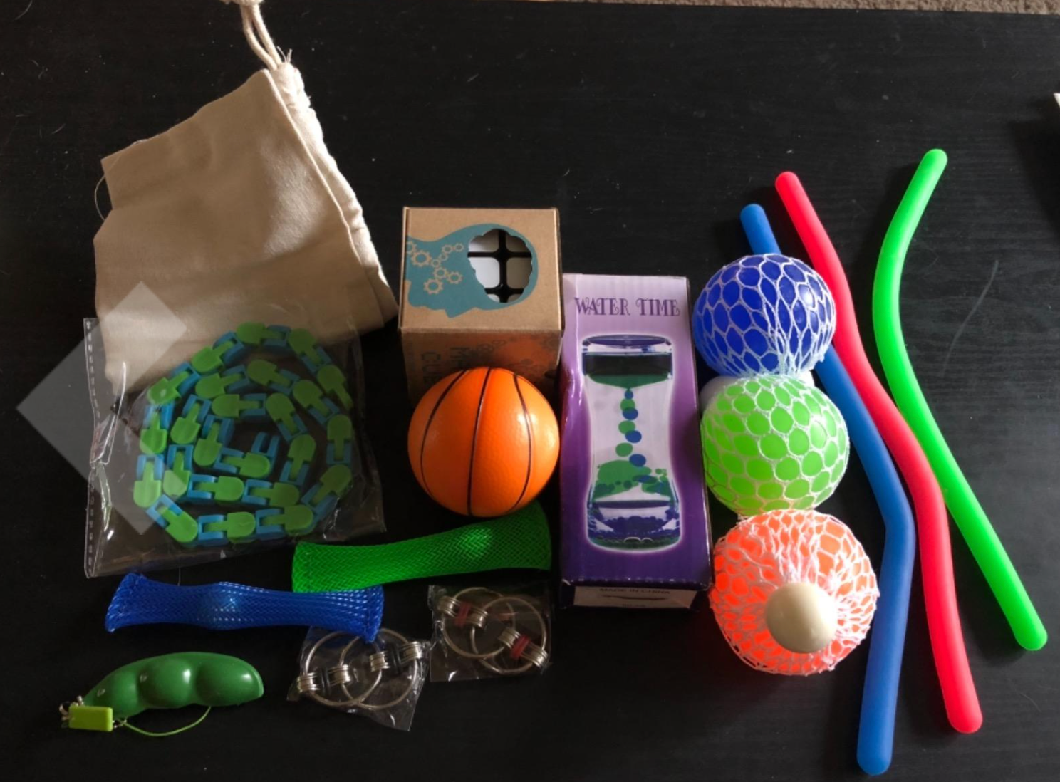 Customer image of toys laid out on table