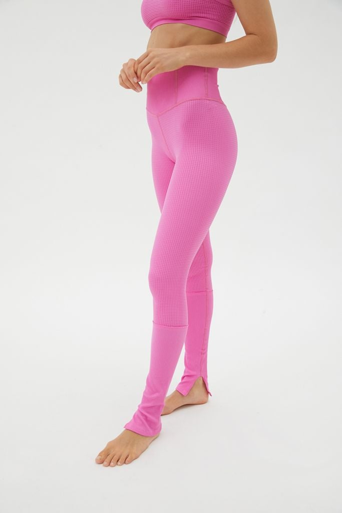hot pink stretchy workout leggings