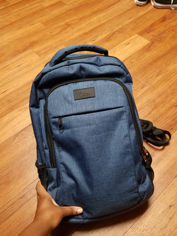 reviewer photo of backpack