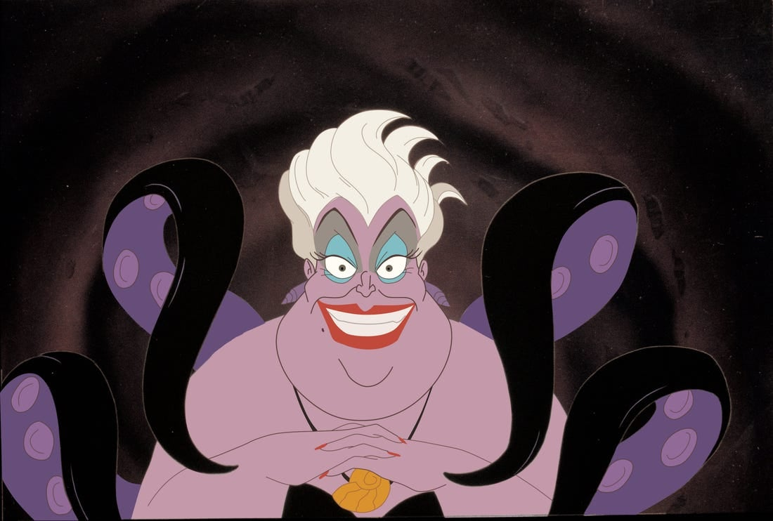 "Ursula from ""The Little Mermaid"" being evil"