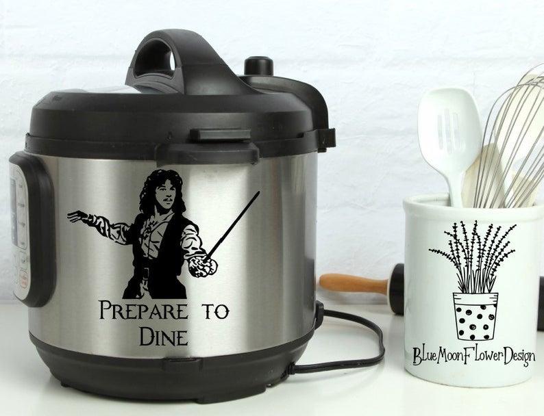 instant pot with sticker of Inigo from