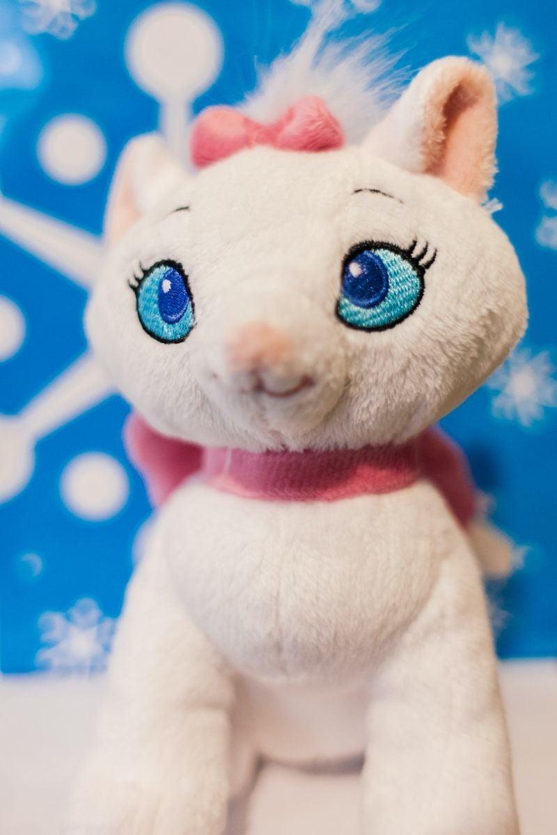 White stuffed cat