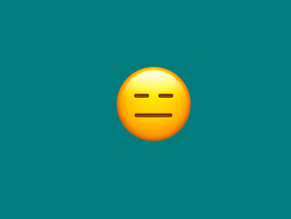 an annoyed emoji staring blanky with contempt