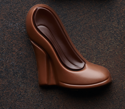 A small chocolate high heel