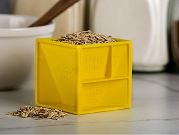 the square cube holding grains
