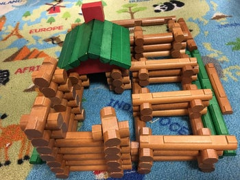 Reviewer's photo of Lincoln Log toys