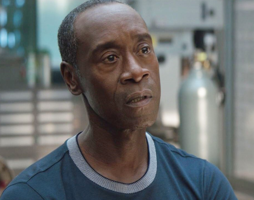 """Don Cheadle as James Rhodes in the movie """"Avengers: Endgame."""""""
