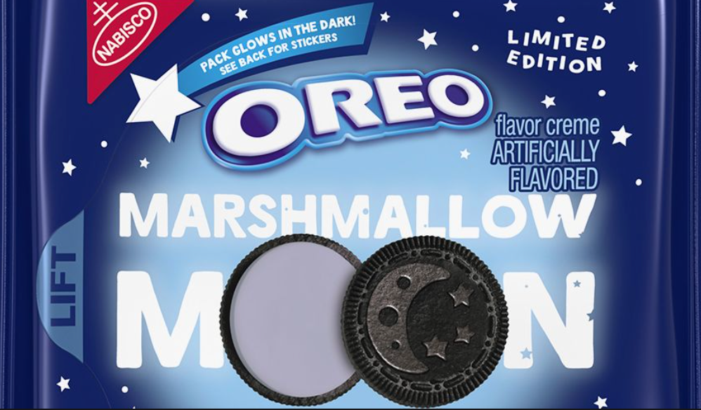 A bag of marshmallow-flavored oreos