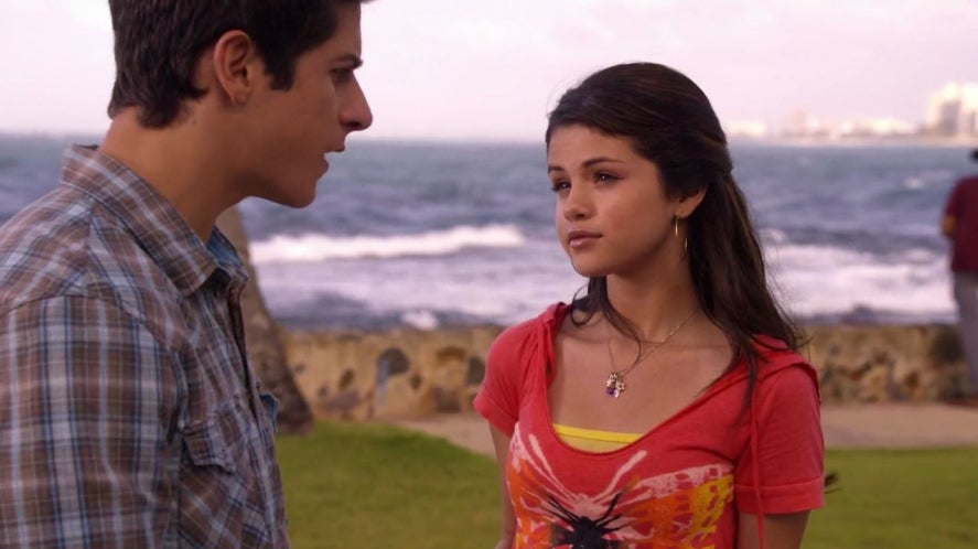 David Henrie Selena Gomez as Justin and Alex in the Wizards of Waverly Place movie