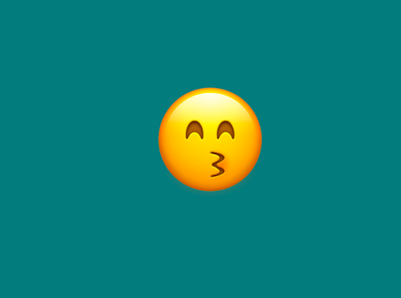 A kissy face emoji