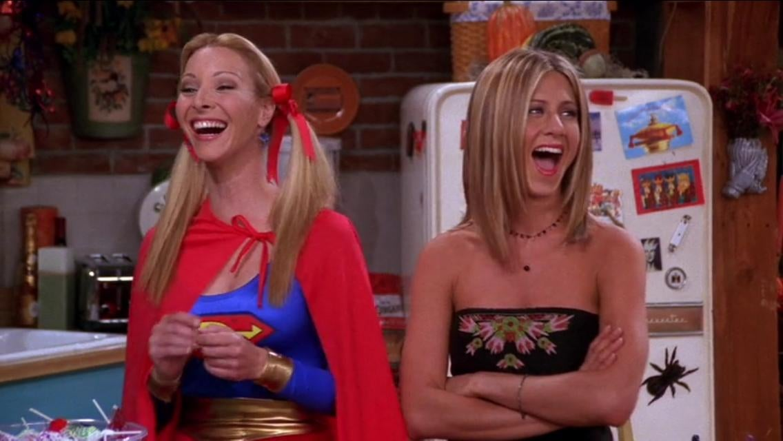 Two women are laughing