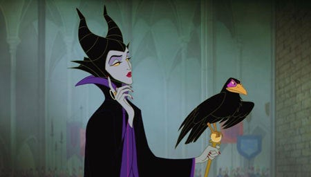 "Maleficent from ""Sleeping Beauty"" being malevolent"
