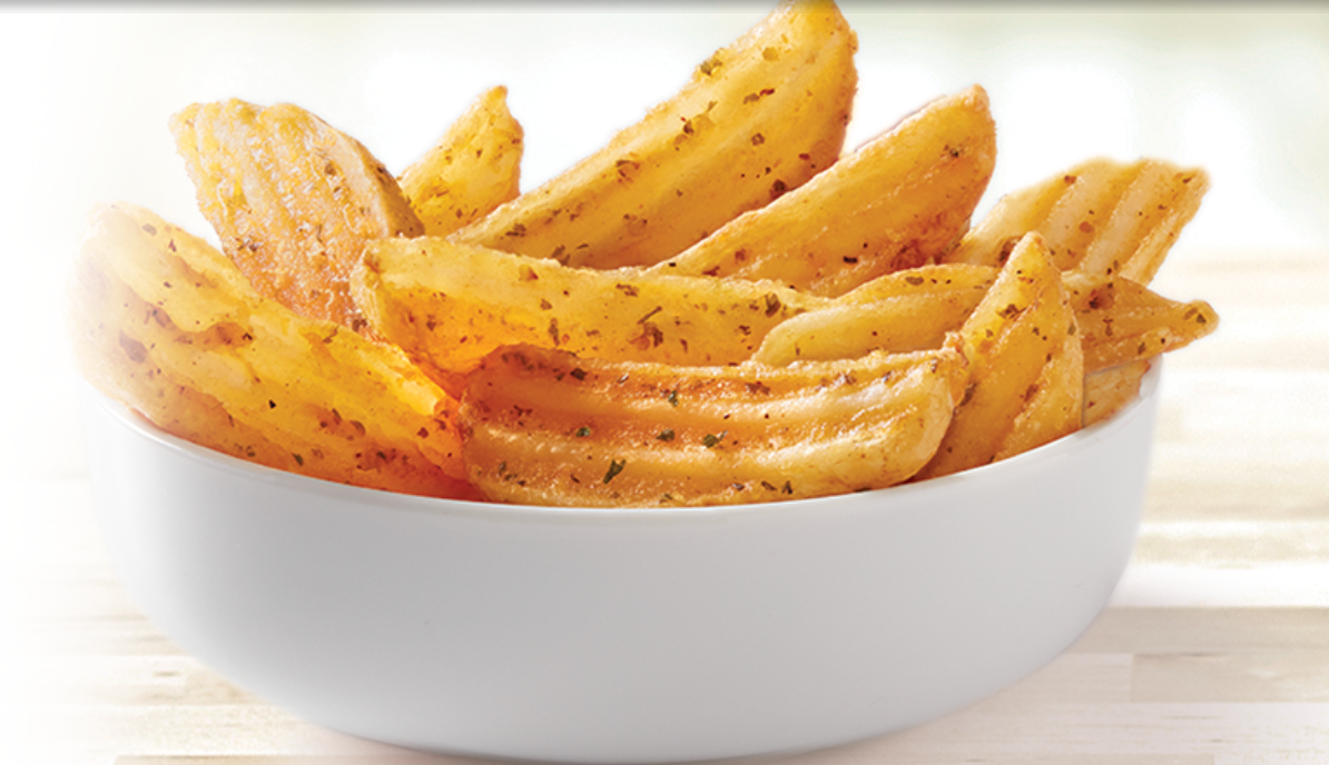 Potato wedges in a bowl