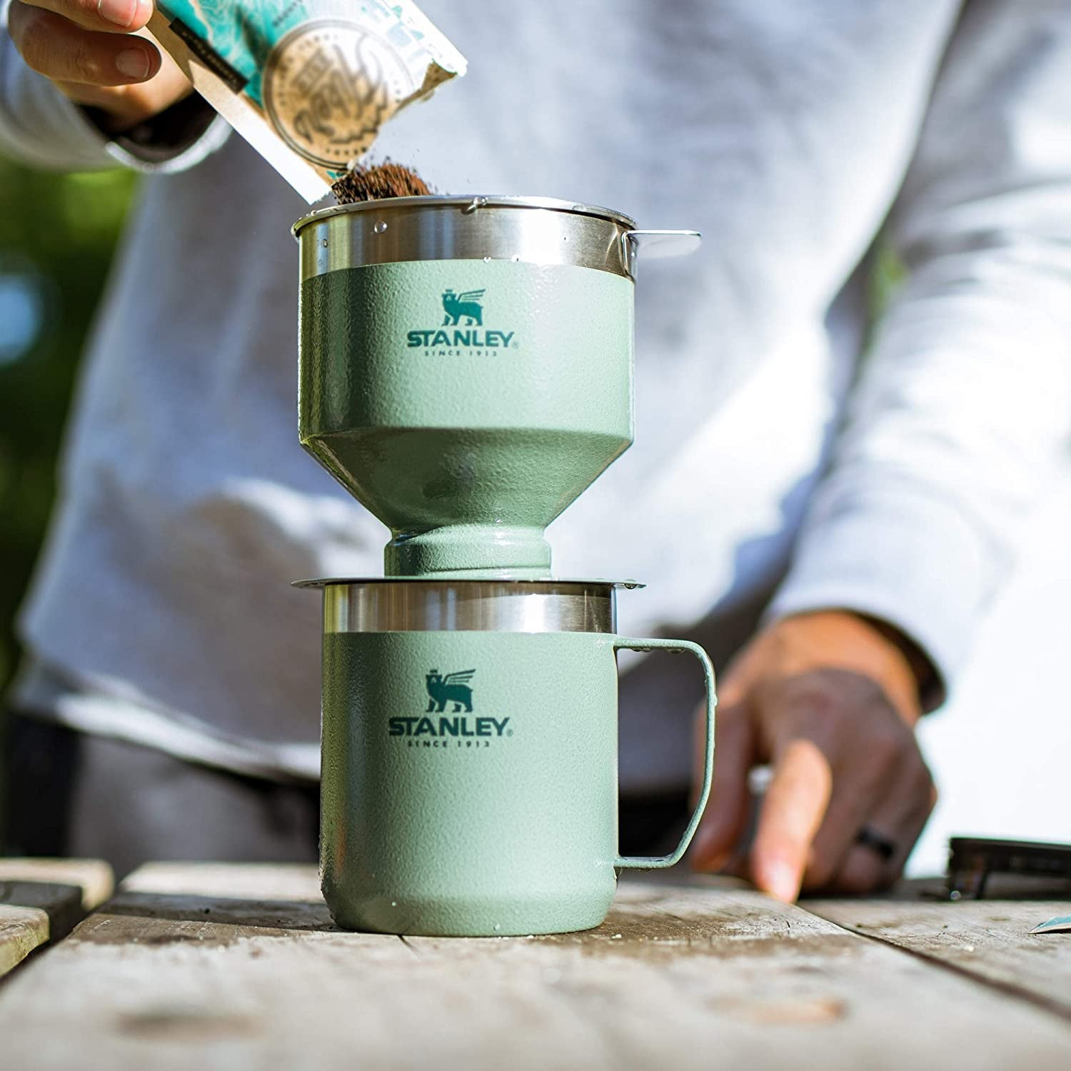 the green pour over coffee maker