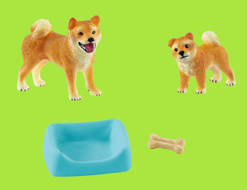 Dog toys with bed and bone