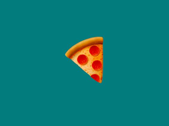 a slice of pizza emoji