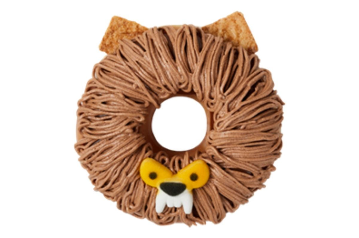 A donut with frosting made to look like a werewolf