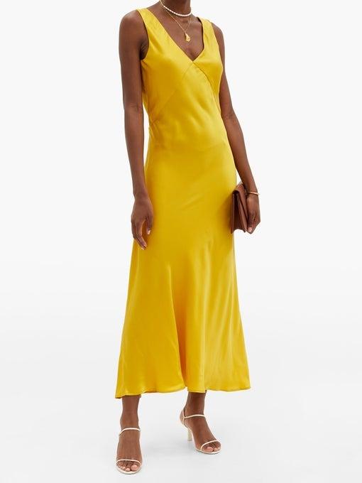A simple silk slip dress