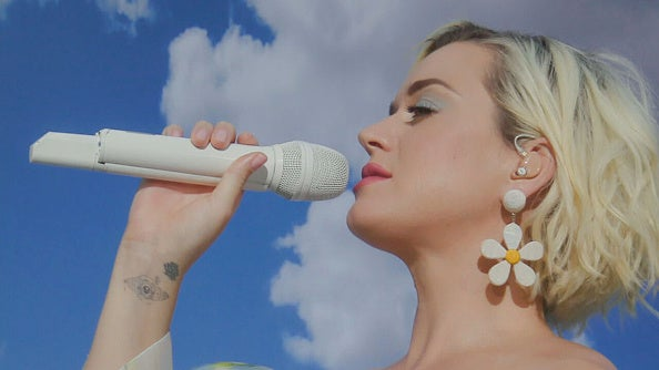 "Katy Perry performs her song on ""Good Morning America."""