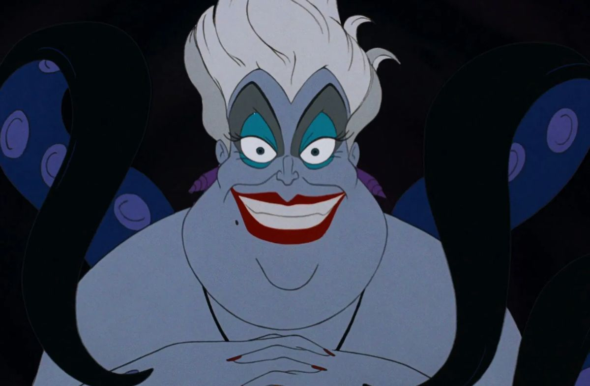 "Pat Carroll as Ursula in the movie ""The Little Mermaid."""