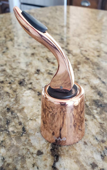 close up of the stopper