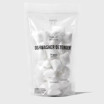 bag of dishwasher detergent pods