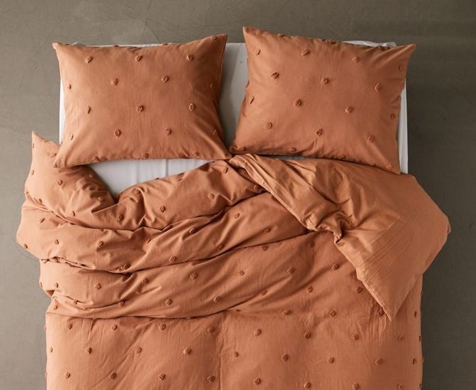 A polka dot duvet cover