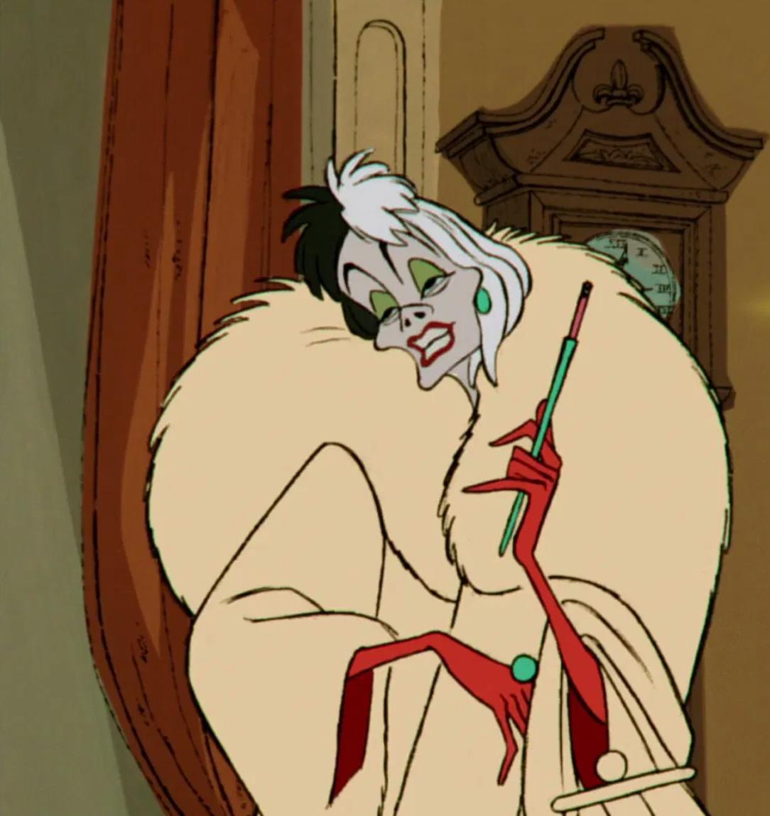 """Betty Lou Gerson as Cruella De Vil in the movie """"101 Dalmatians."""""""