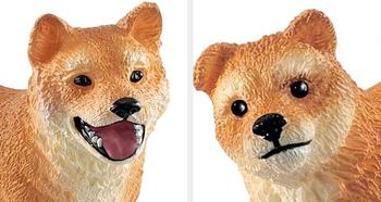 Shiba Inu dog and puppy toy
