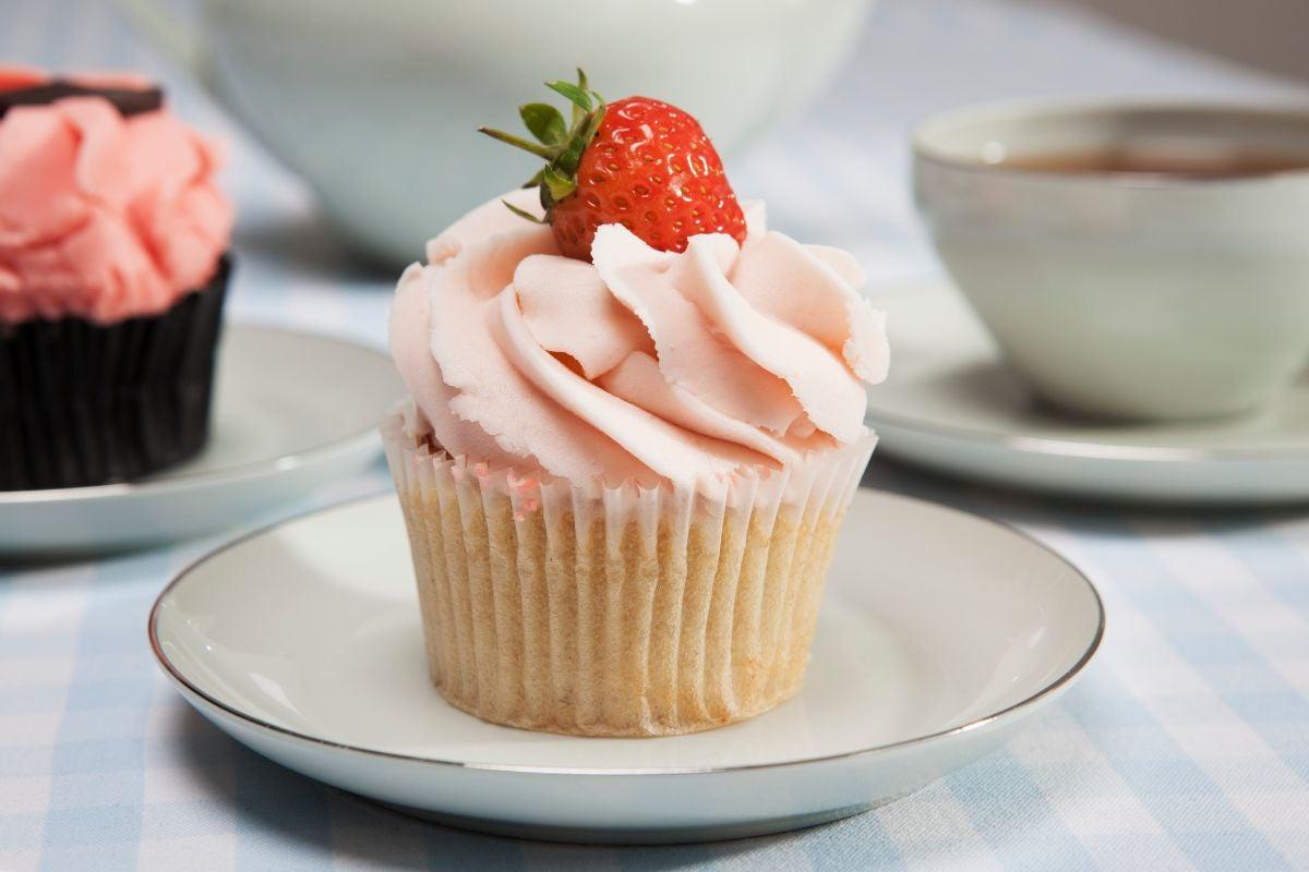 A strawberry cupcake