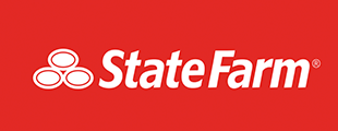 State Farm logo over red background