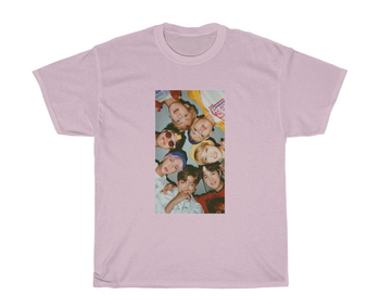 the bts t shirt in pink