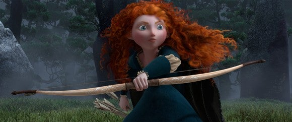 MErida clutches her bow and reaches for an arrow