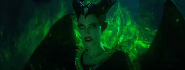 """Angelina Jolie scowls as Maleficent in """"Maleficent"""""""