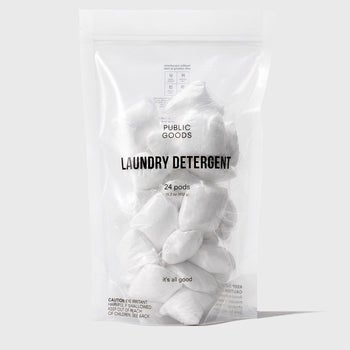 bag of laundry detergent pods