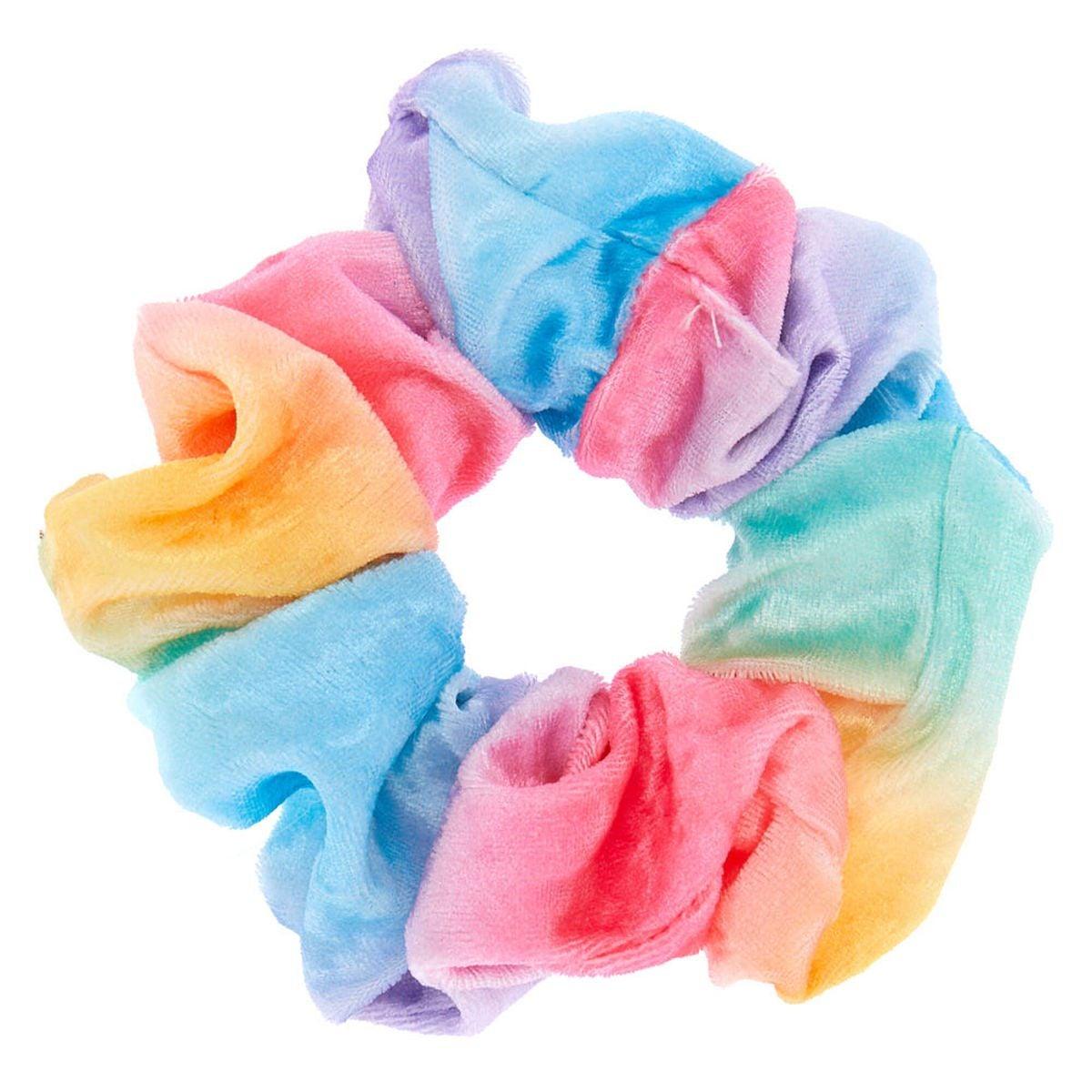 A rainbow scrunchie