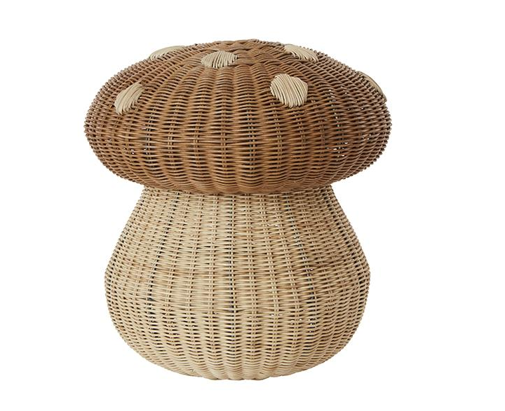 the woven mushroom basket