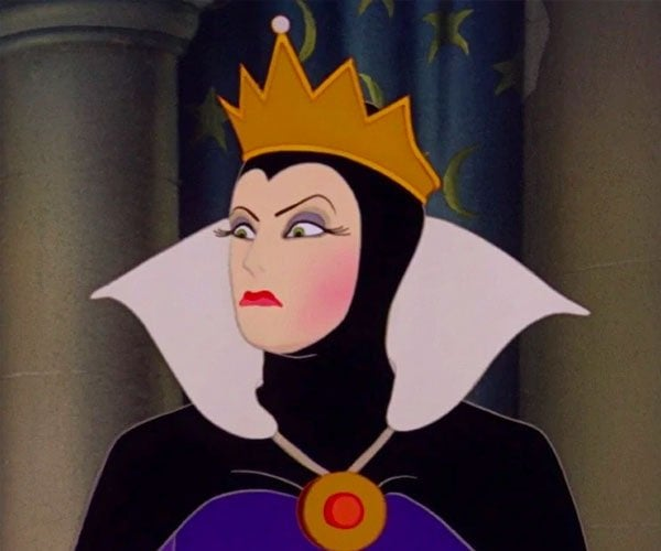 The Evil Queen from Snow White staring evilly