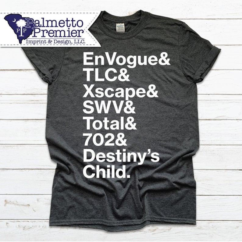 dark gray t-shirt that says