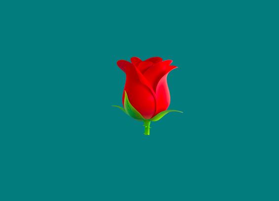 a red rose emoji