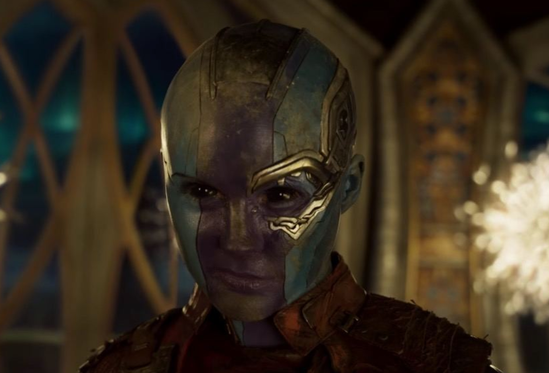 """Karen Gillian as Nebula in the movie """"Guardians of the Galaxy Vol. 2."""""""