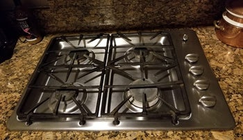 the stovetop shiny clean