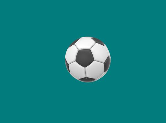a soccer emoji